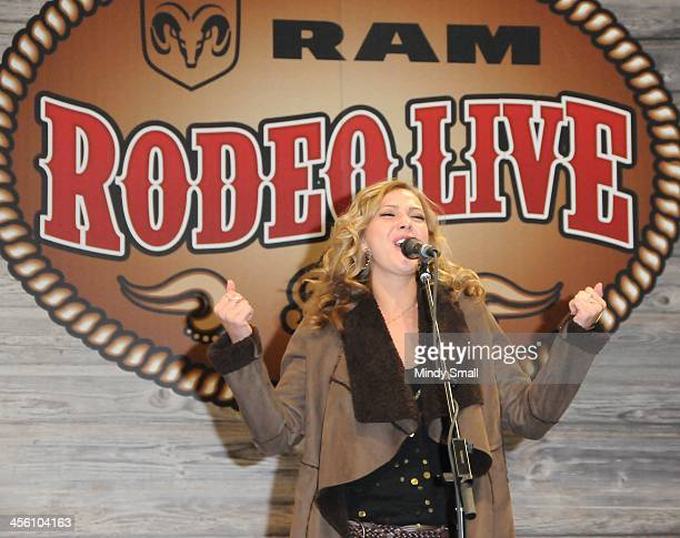 Morgan Leigh performs at Cowboy FanFest during the Wrangler National Finals Rodeo at the on December 13 2013 in Las Vegas Nevada