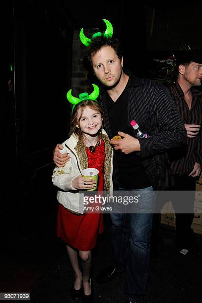 Morgan Lily and Andy Gross attends the afterparty for Dr Seuss' How the Grinch Stole Christmas The Musical at HWood on November 14 2009 in Hollywood...