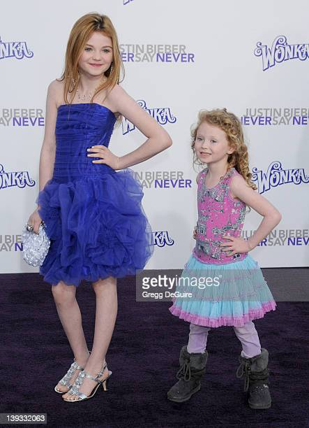 Morgan Lily arrives at the Los Angeles Premiere of Justin Bieber Never Say Never at the Nokia Theater LA Live on February 8 2011 in Los Angeles...