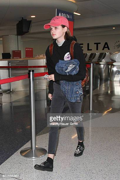 Morgan Lily is seen at LAX on November 11 2016 in Los Angeles California
