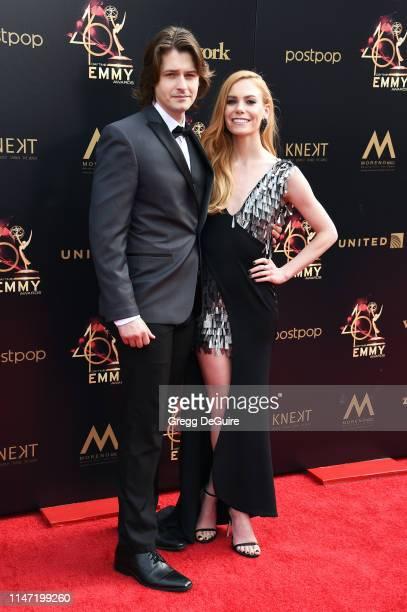 Morgan McClellan and Chloe Lanier attend the 46th annual Daytime Emmy Awards at Pasadena Civic Center on May 05 2019 in Pasadena California