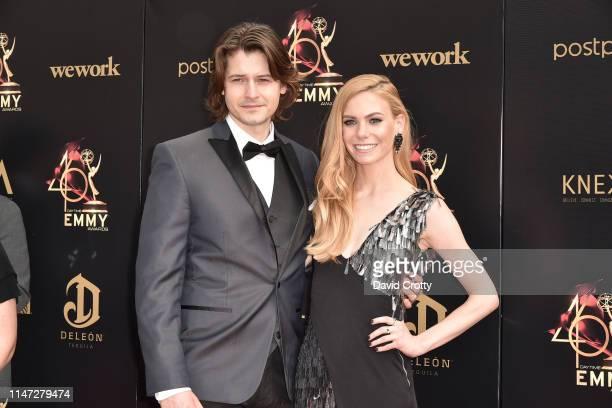 Morgan McClellan and Chloe Lanier attends the 46th annual Daytime Emmy Awards at Pasadena Civic Center on May 05 2019 in Pasadena California