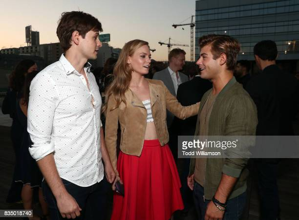 Morgan McClellan Garrett Clayton and Chloe Lanier attend MPTF's NextGen Summer Party at NeueHouse Hollywood on August 17 2017 in Los Angeles...
