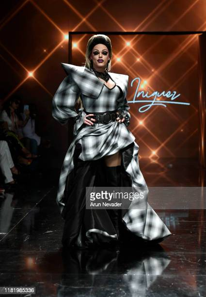 Morgan McMichaels walks the runway wearing Tony Iniguez during Los Angeles Fashion Week SS/20 Powered by Art Hearts Fashion on October 18 2019 in Los...
