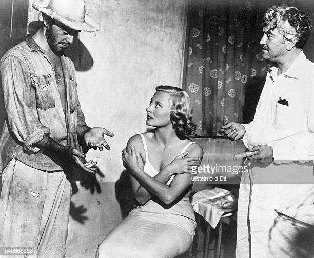 Morgan, Michele - Actress, France - Movie 'Les Orgueilleux' - from left to right: Gerard Philipe, Morgan, C.L. Moctezuma - 1953