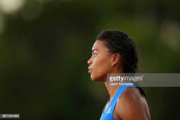 Morgan Mitchell competes in the womens 400m during the Hunter Track Classic on January 20, 2018 in Newcastle, Australia.