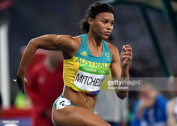 Morgan Mitchell of Australia competes in the Women's 400 meter semifinal on Day 9 of the Rio 2016 Olympic Games at the Olympic Stadium on August 14,...
