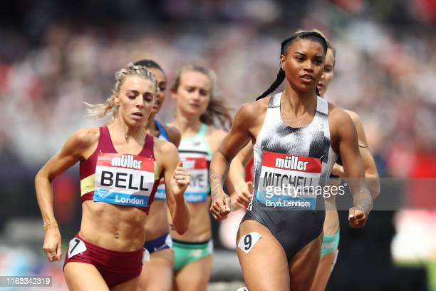 Morgan Mitchell of Australia competes in the Women's 800m during Day Two of the Muller Anniversary Games IAAF Diamond League event at the London...