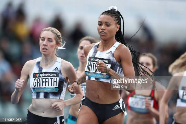 Morgan Mitchell of Victoria competes in the Womens 800m heats during the Australian Track and Field Championships at Sydney Olympic Park Athletic...