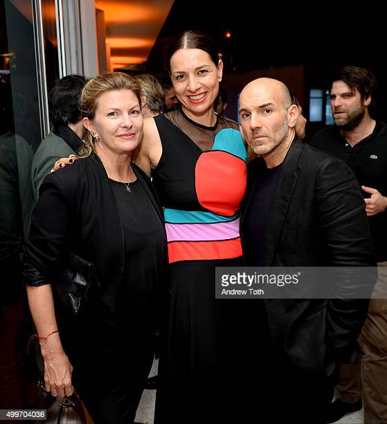 Morgan Morris Yana Peel and Jason Basmajian attend Raspoutine Paris Popup at L'Eden by Perrier Jouet at the Faena Hotel on December 2 2015 in Miami...