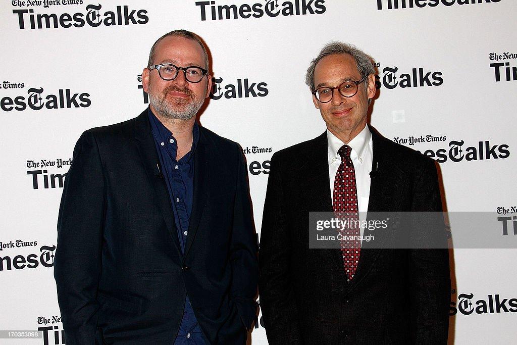 Morgan Neville and Jon Pareles attend 'Twenty Feet from Stardom at Times Center on June 11, 2013 in New York City.