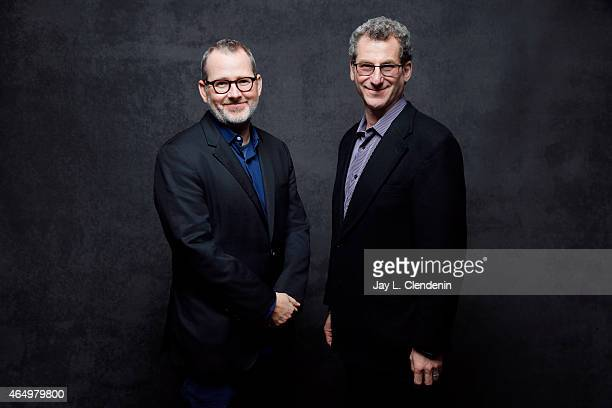 Morgan Neville and Robert Gordon from the film 'Best of Enemies' pose for a portrait for the Los Angeles Times at the 2015 Sundance Film Festival on...