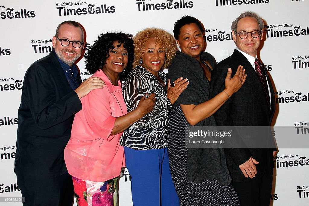 Morgan Neville, Merry Clayton, Darlene Love, Lisa Fischer and Jon Pareles attend 'Twenty Feet from Stardom at Times Center on June 11, 2013 in New York City.
