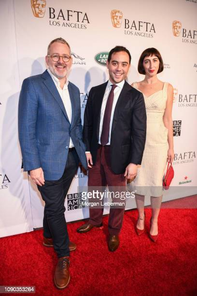 Morgan Neville Nicholas Ma and Caryn Capotosto arrive at the BAFTA Los Angeles Tea Party at the Four Seasons Hotel Los Angeles in Beverly Hills on...