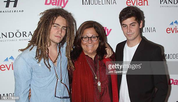 Morgan O'Conner Fern Mallis and George Merck attend The Daily Modelinia Present The Models Issue Party at Harlow on February 7 2014 in New York City
