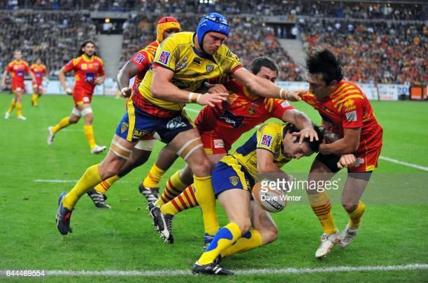 Morgan PARRA / Julien BONNAIRE / Nicolas DURAND Perpignan / Clermont Auvergne Finale Top 14 Stade de France Photo Dave Winter / Icon Sport