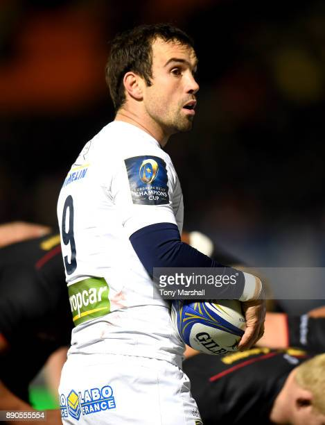 Morgan Parra of ASM Clermont Auvergne during the European Rugby Champions Cup match between Saracens and ASM Clermont Auvergne at Allianz Park on...