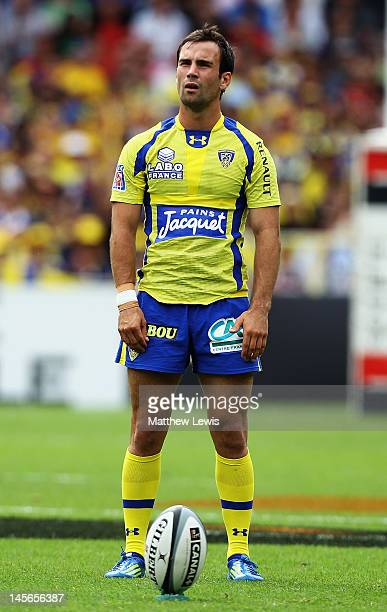 Morgan Parra of ASM Clermont Auvergne in action during the French Top 14 Semi Final match between ASM Clermont Auvergne and RC Toulon at the Stade de...