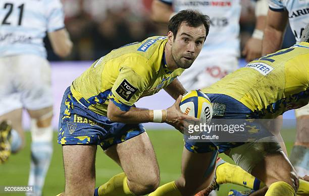 Morgan Parra of ASM Clermont in action during the Top 14 rugby match between ASM Clermont Auvergne and Racing 92 at Stade Marcel Michelin on December...