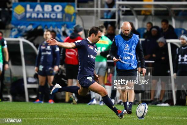 Morgan PARRA of Clemont during the European Rugby Champions Cup Pool 3 match between ASM Clermont Auvergne and Harlequin FC on November 16 2019 in...
