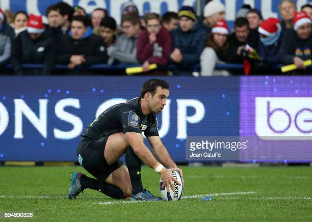 Morgan Parra of Clermont during the European Rugby Champions Cup match between ASM Clermont Auvergne and Saracens at Stade Marcel Michelin on...