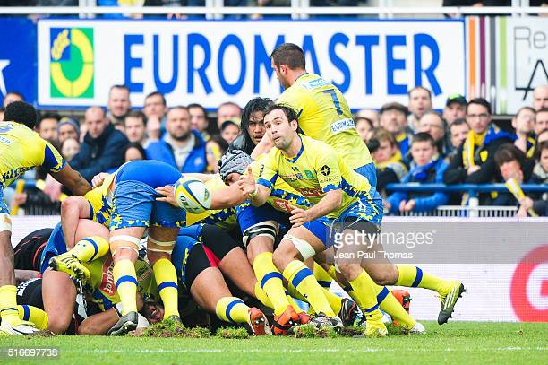 Morgan PARRA of Clermont during the French Top 14 rugby union match between Clermont and Stade Toulousain on March 20 2016 in ClermontFerrand France