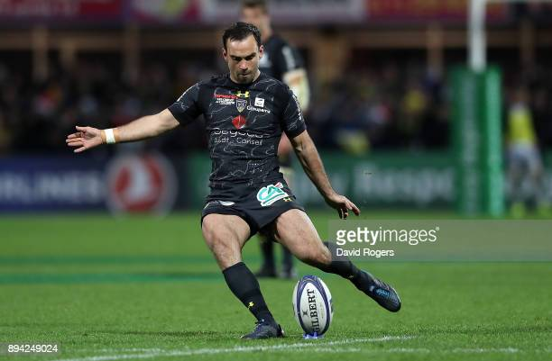 Morgan Parra of Clermont in action during the European Rugby Champions Cup match between ASM Clermont Auvergne and Saracens at on December 17 2017 in...