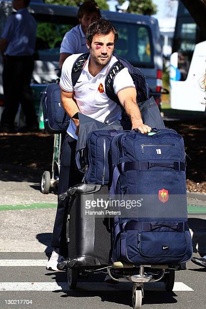 Morgan Parra of the France 2011 IRB Rugby World Cup squad departs Auckland International Airport on October 25 2011 in Auckland New Zealand