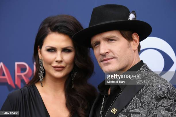 Morgan Petek and Jerrod Niemann attend the 53rd Academy of Country Music Awards at MGM Grand Garden Arena on April 15 2018 in Las Vegas Nevada