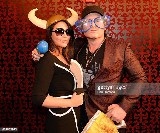 Morgan Petek and Jerrod Niemann attend the TJ Martell Ambassador Of The Year Awards at The Rosewall on May 12 2014 in Nashville Tennessee
