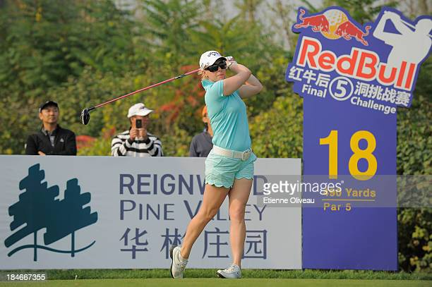 Morgan Pressel of the United States during the first round of the Reignwood LPGA Classic at Pine Valley Golf Club on October 3 2013 in Beijing China