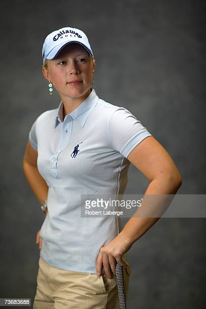 Morgan Pressel poses for a portrait at the LPGA Safeway International on March 21 2007 at the Superstition Mountain Golf and Country Club in Apache...