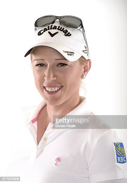 Morgan Pressel poses for a portrait during the KIA Classic at the Park Hyatt Aviara Resort on March 22 2016 in Carlsbad California