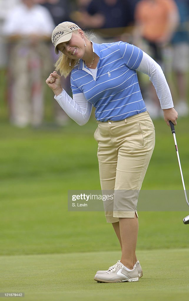 Morgan Pressel reacts to a missed putt during the second round of the 2006 Corning Classic at the Corning Country Club in Corning, NY on Friday, May 26, 2006.