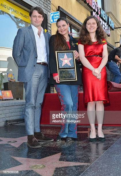 Morgan Ritchie Maria Burton and Charlotte Ritchie attend a ceremony honoring Richard Burton with the 2491st star on the Hollywood Walk of Fame on...
