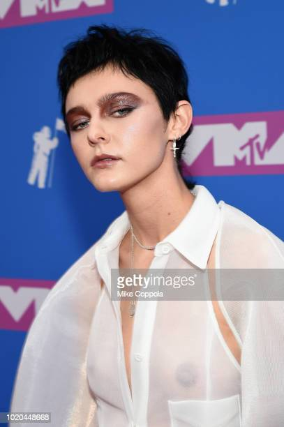 Morgan Saint attends the 2018 MTV Video Music Awards at Radio City Music Hall on August 20, 2018 in New York City.