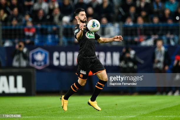 Morgan SANSON of Marseille during the French Cup Soccer match between US Granville and Olympique de Marseille at Stade Michel D'Ornano on January 17...