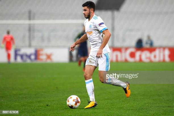 Morgan Sanson of Marseille during the Uefa Europa League match between Olympique de Marseille and Red Bull Salzburg at Stade Velodrome on December 7...