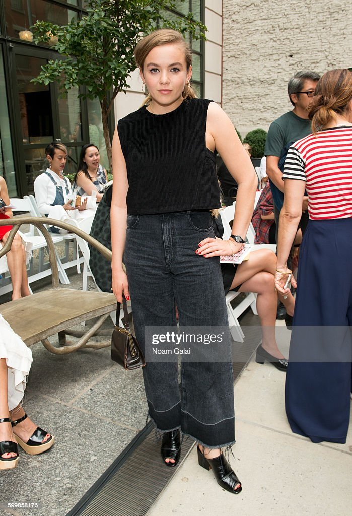 Morgan Saylor attends the Rachel Comey fashion show during New York Fashion Week September 2016 on September 7, 2016 in New York City.
