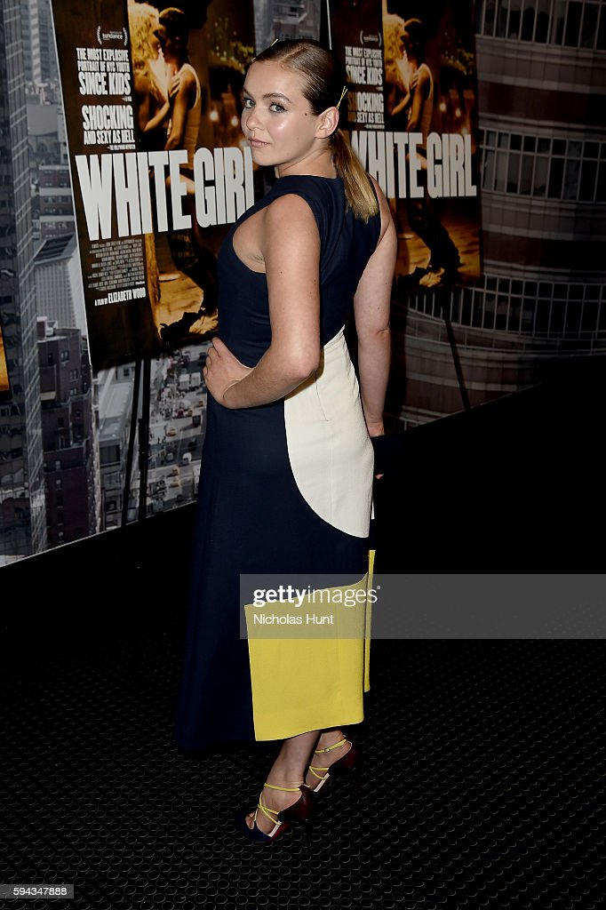 Morgan Saylor attends the 'White Girl' New York Premiere at Angelika Film Center on August 22, 2016 in New York City.