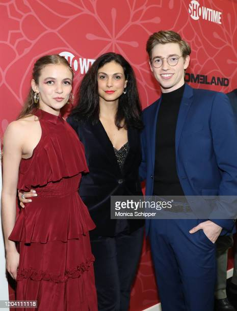 Morgan Saylor Morena Baccarin and Jackson Pace attend the Homeland Season 8 Premiere at Museum of Modern Art on February 04 2020 in New York City