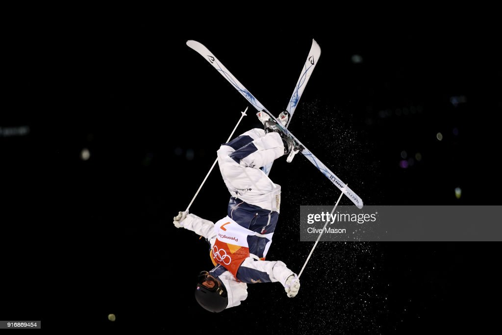 Morgan Schild of the United States trains during warmup ahead of the Freestyle Skiing Ladies' Moguls Final on day two of the PyeongChang 2018 Winter Olympic Games at Phoenix Snow Park on February 11, 2018 in Pyeongchang-gun, South Korea.
