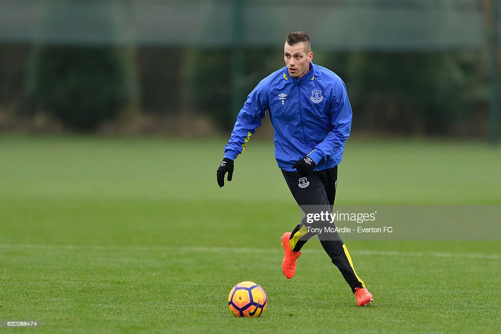 Morgan Schneiderlin during the Everton FC training session at USM Finch Farm on January 19, 2017 in Halewood, England.