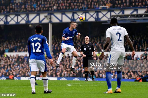 Morgan Schneiderlin of Everton during the Premier League match between Everton and Chelsea at Goodison Park on December 23 2017 in Liverpool England