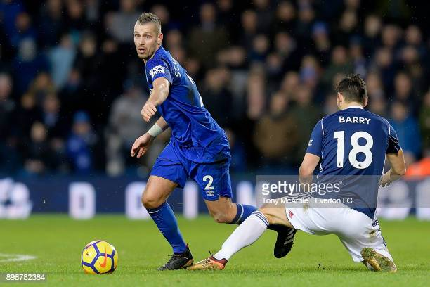 Morgan Schneiderlin of Everton on the ball during the Premier League match between West Bromwich Albion and Everton at The Hawthorns on December 26...