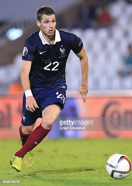 Morgan Schneiderlin of France in action during the International friendly match between Serbia and France at the Stadium JNA on September 07 2014 in...