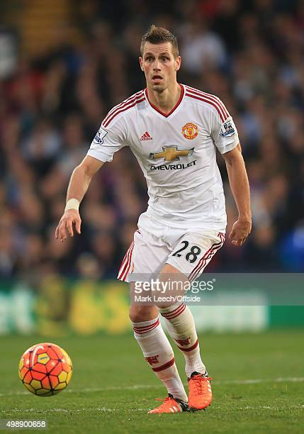 Morgan Schneiderlin of Manchester United during the Barclays Premier League match between Crystal Palace and Manchester United at Selhurst Park on...