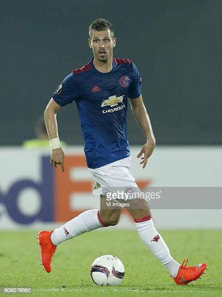Morgan Schneiderlin of Manchester United during the Europa League group A match between Feyenoord and Manchester Uinited on September 15 2016 at the...