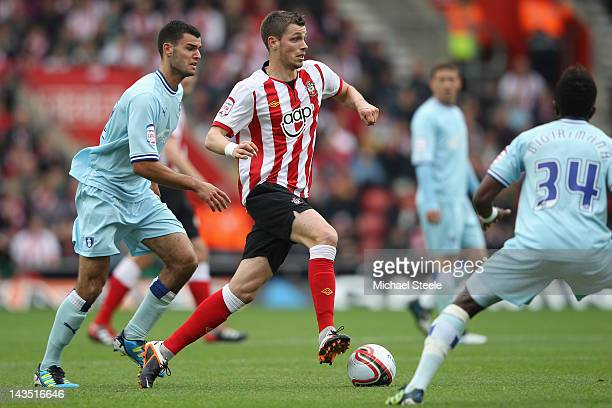 Morgan Schneiderlin of Southampton during the npower Championship match between Southampton and Coventry City at St Mary's Stadium on April 28 2012...