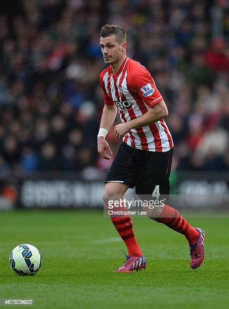 Morgan Schneiderlin of Southampton in action during the Barclays Premier League match between Southampton and Burnley at St Mary's Stadium on March...